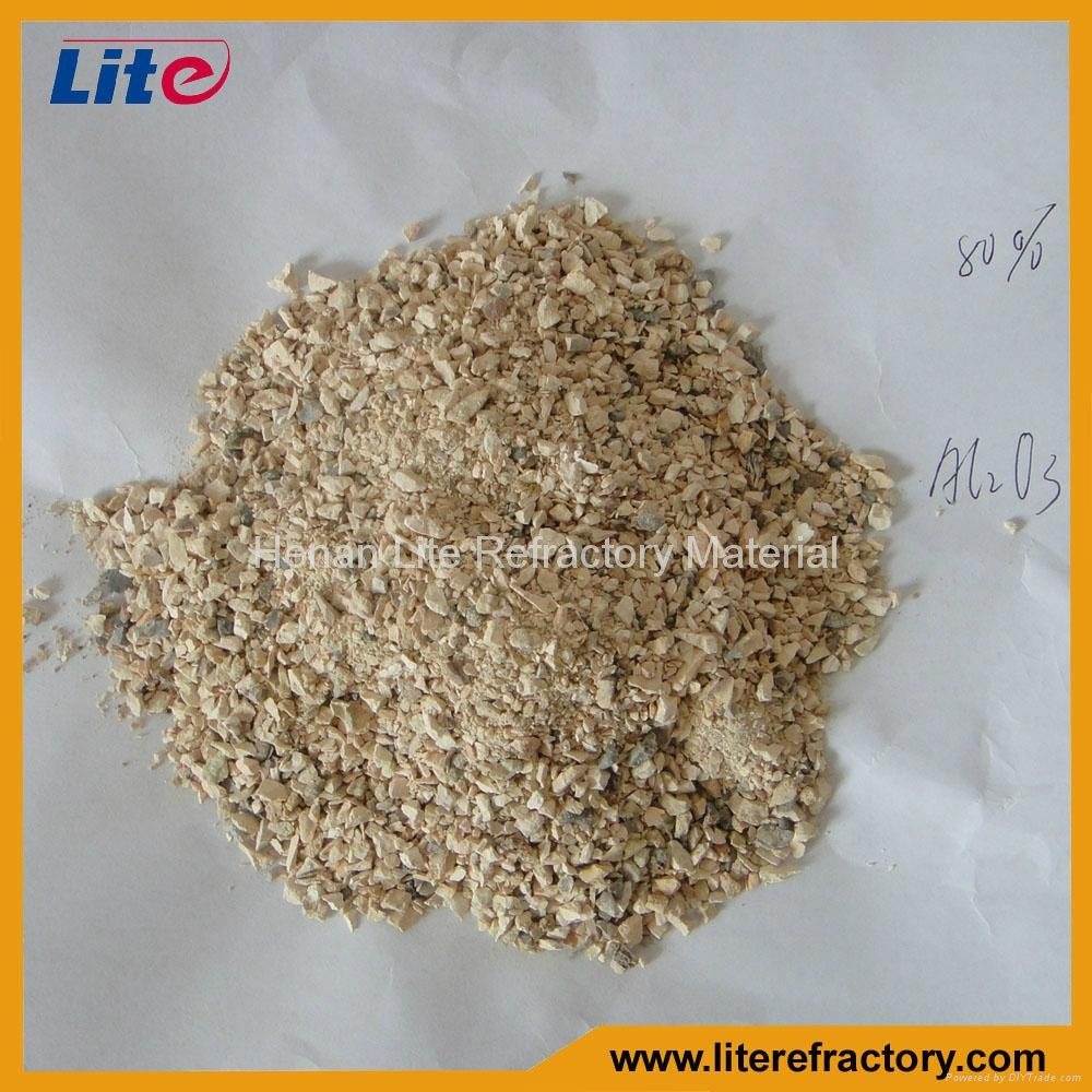 1-3mm 3-5mm 50%-85% Al2O3 Calcined Bauxite Ore Price for Furnace Lining 3