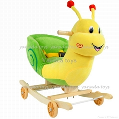 stuffed rocking snail plush toys
