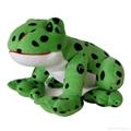 3D plush frog toys