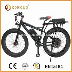 1500W black frame electric bicycle
