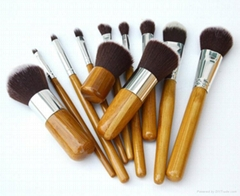 11pcs bamboo handle makeup brush set (Hot Product - 2*)