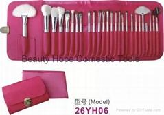 26支化妝刷套裝化妝工具羊毛高檔化妝刷深圳廠家批發