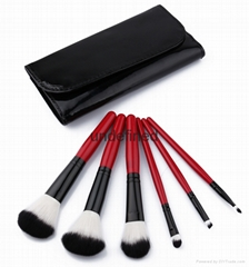 6pcs wood handle makeup brush set face brush cosmetic brush