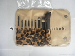 9pcs wood handle makeup brush set face brush cosmetic brush