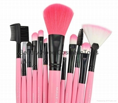 12pcs wood handle makeup brush set face brush cosmetic brush