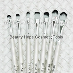 20pcs wood handle makeup brush set face brush cosmetic brush white