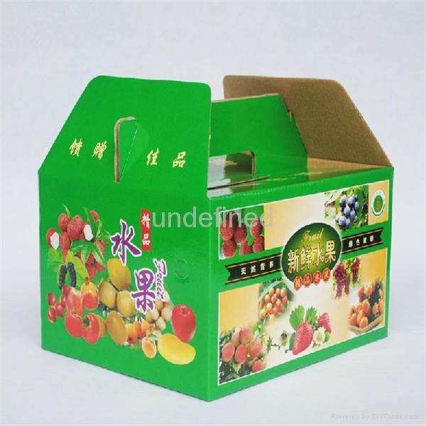 FEFCO 0217 Folding Corrugated Carry Box for Fruits & Eggs