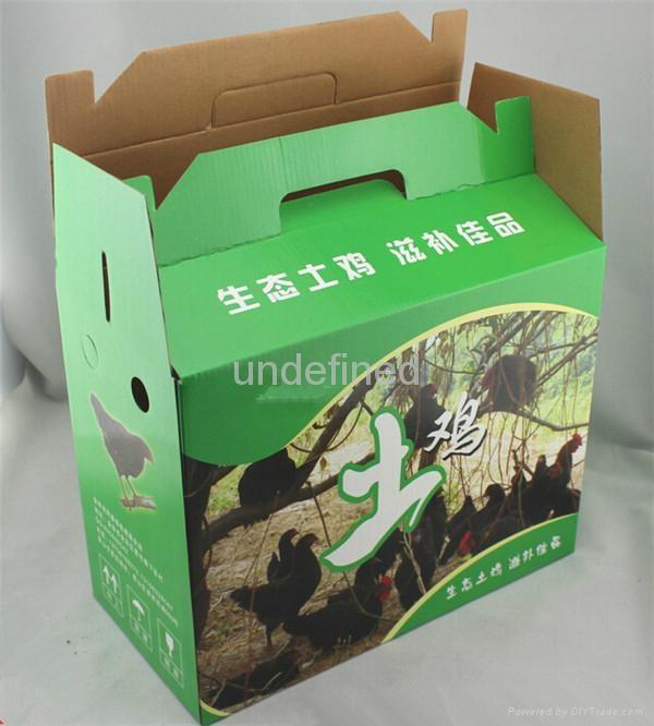 FEFCO 0217 Folding Corrugated Carry Box for Fruits & Eggs  4