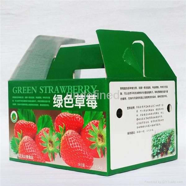 FEFCO 0217 Folding Corrugated Carry Box for Fruits & Eggs  5
