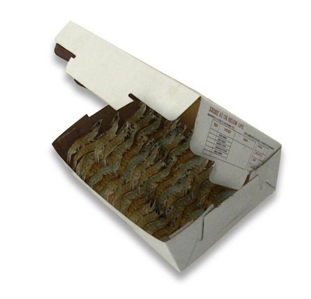 Frozen Seafood Box Wax Coated Foldable Cardboard Packaging