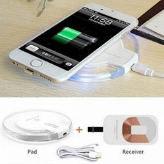Best Quality Qi Wireless Charger Charging Pad + Receiver Kit Adapter for iPhone