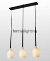 Linear 3 lights glass pendant light