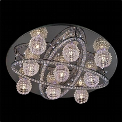 Color changing LED crystal ceiling lamp