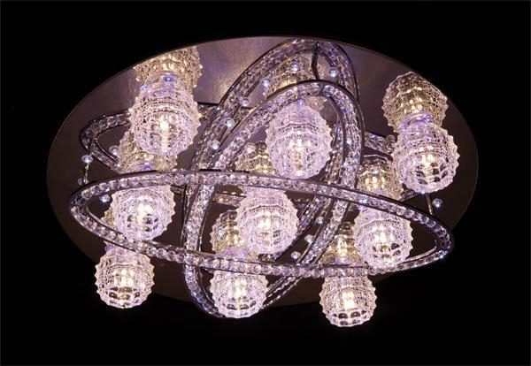 Color changing LED crystal ceiling lamp 4