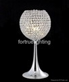 Mini chrome crystal table lamp