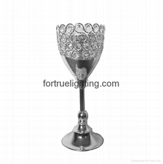 Crystal candle holder for wedding
