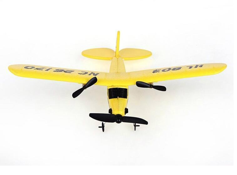 glider electric rc airplane remote control radio powerup foam material 2