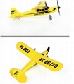 glider electric rc airplane remote control radio powerup foam material 3