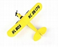 glider electric rc airplane remote control radio powerup foam material 4