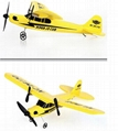 glider electric rc airplane remote control radio powerup foam material 5