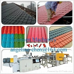 Plastic PVC+ASA glazed roof tile production line