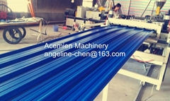 plastic PVC corrugated wave roof tile making machine production line
