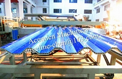 PVC hollow roof tile/roofing sheet making machine production line