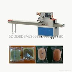 川越CY-250凍米糖米通自動枕式食品杏仁月餅包裝機