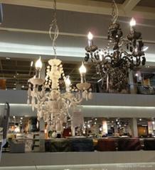 plastic chandelier, acry