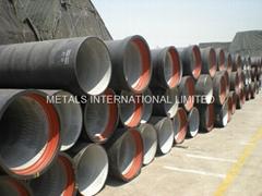 ISO2531,EN545,EN598,AS2280,BS4772-K-Type(Mechanical) Joint Ductile Iron Pipes