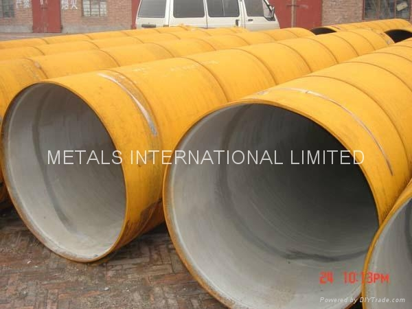 Cement mortar lined steel pipe awwa c knpc din