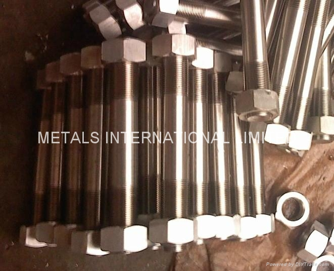 HASTELLOY C276,MONEL400,INCONEL 600,INCOLOY 800 BOLTS,NUTS, THREADED RODS 8