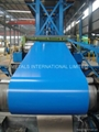 BLUE COATED GALVANIZED STEEL COILS
