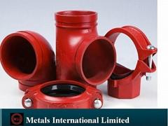 ASTM A105,ASTM A182特氟龍噴塗溝槽管件