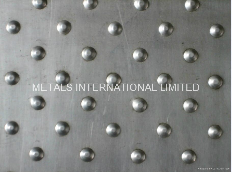 Astm A 786 Chequered Plate Aveolated Metal Plate Tear Drop