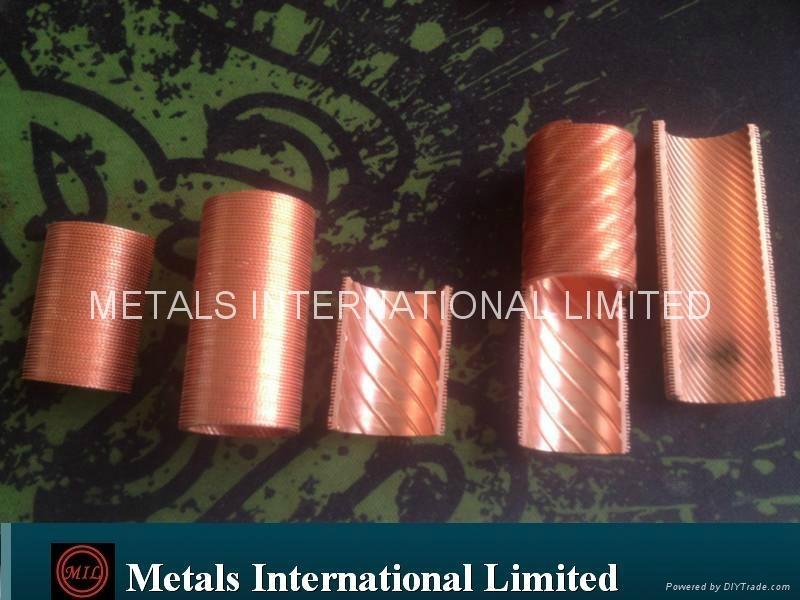 Internal Riffle+External Helical Fin Copper Tube