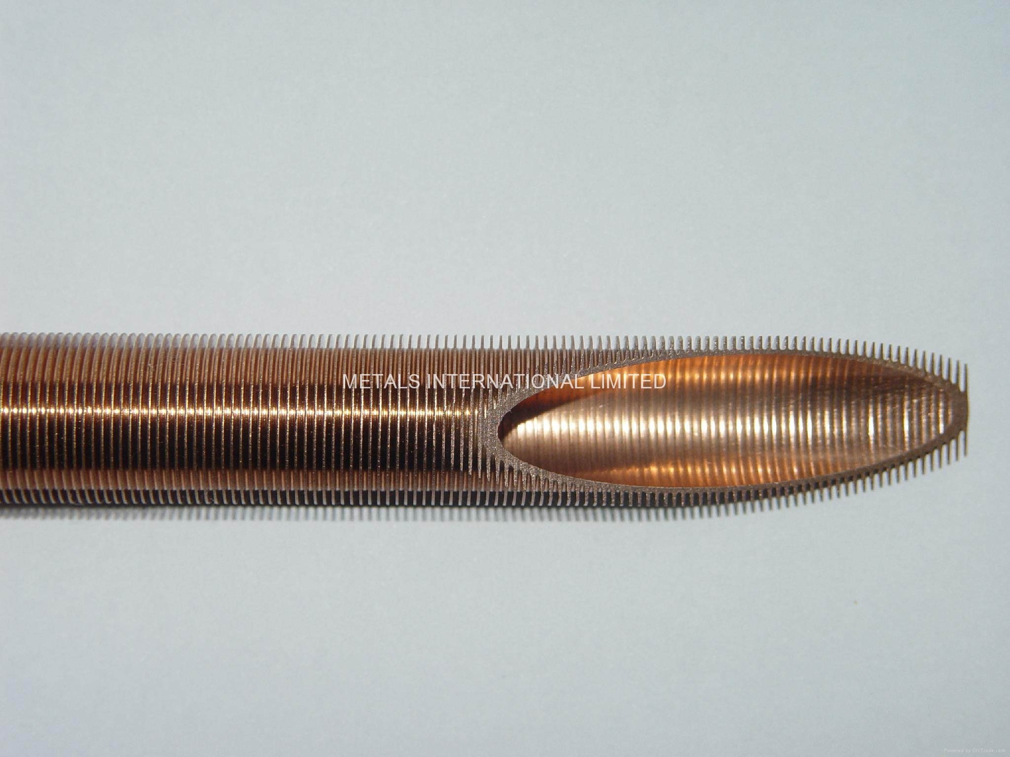 Integrated Finned Tube of Copper (C10200, C12000, C12200), Cupronickel (C70600)