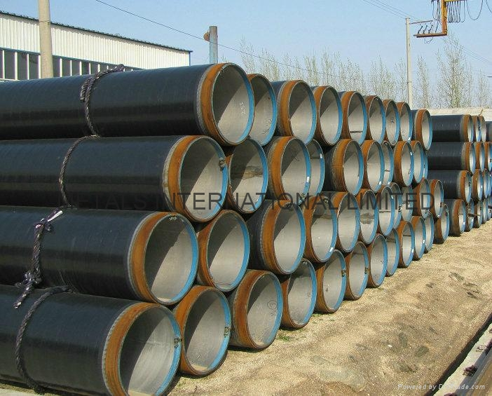 3LPE COATED+TP304L+X42 CRA LINED PIPE