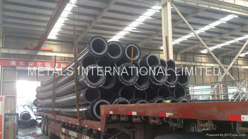 UHMWPE PIPE FOR mud and corrosive medium with slag delivery