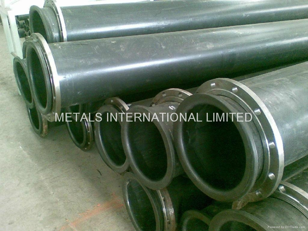 UHMWPE pipe used in mining applicatio