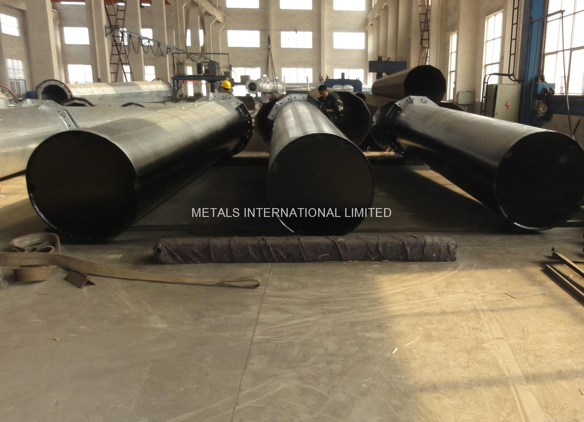 ASTM A595 A TAPERED STEEL POLES