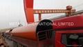 API 5L X52 PSL 2/ASTM A500 C OXIDE RED PRIMER PAINTED SPIRALWELD STEEL PIPE