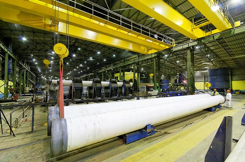 EN 10219-1+AWWA C213 Bitumen Alsphat Coated HSAW Pipe