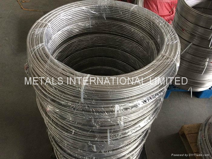 TP 304/304L SEAMLESS STAINLESS COILED TUBE