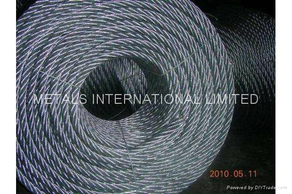 6x36WS-IWRC Hot-dipped Galvanized Marine Wire Rope