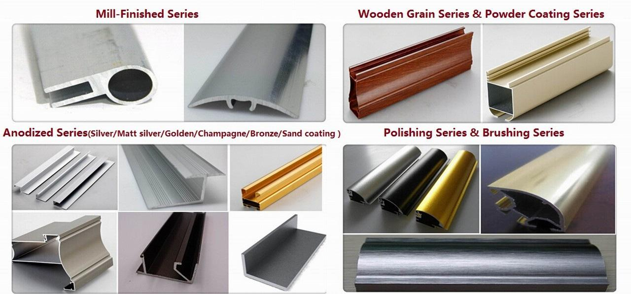 Color Powder Coating Aluminum Extrusion Profiles