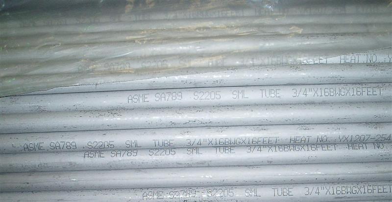 ASME SA789 S2205  DUPLEX STAINLESS STEEL TUBE