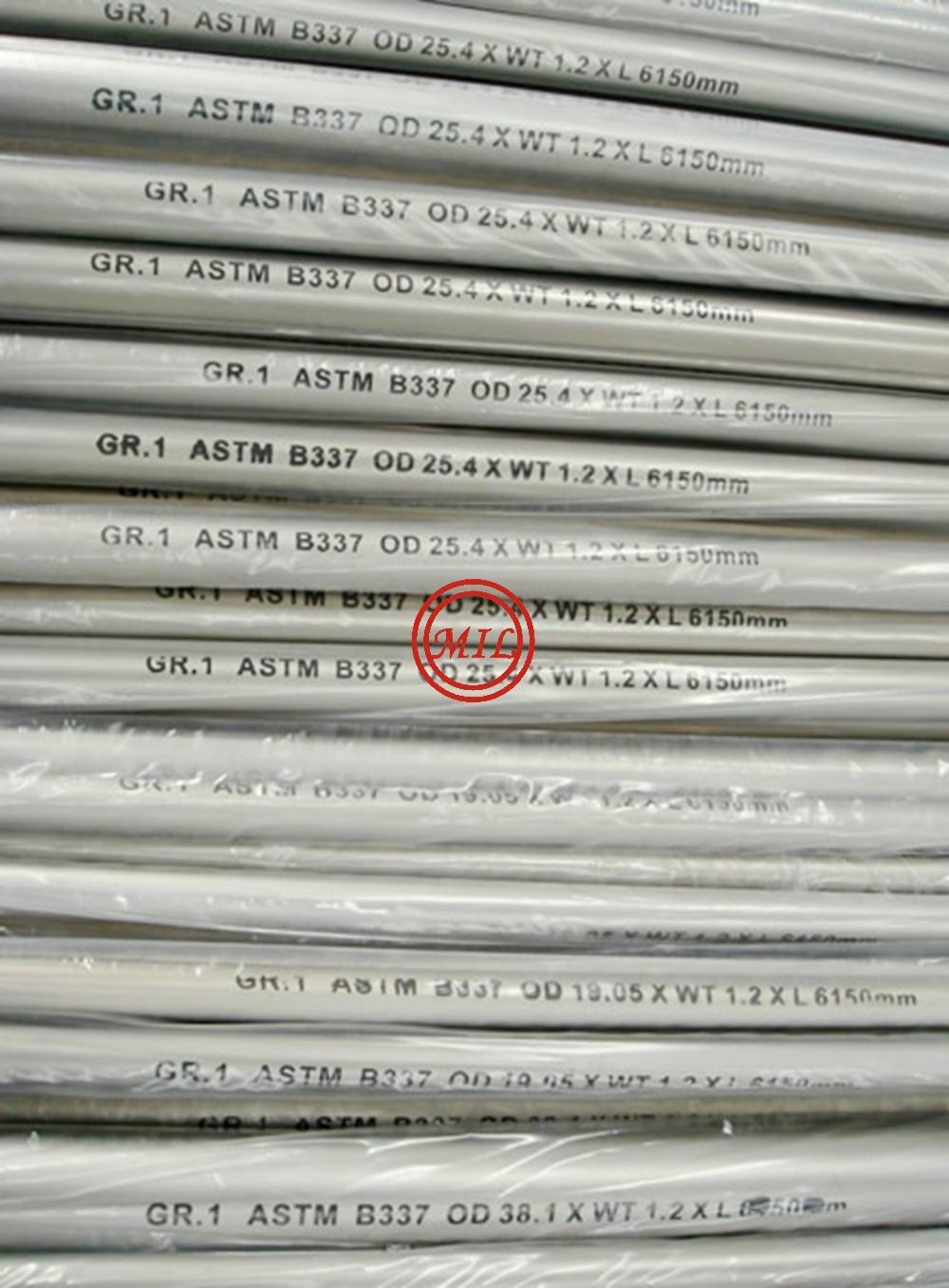 ASTM B337 GR.1 TITANIUM TUBES