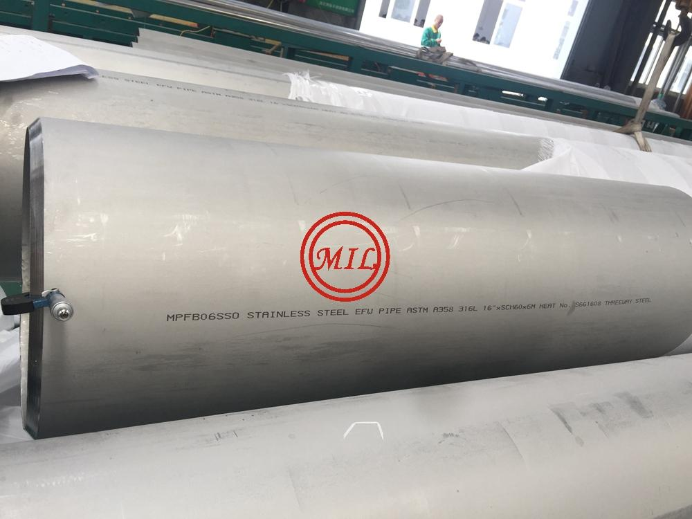 ASTM A358 316L STAINLESS STEEL EFW PIPE
