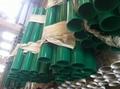 Green Round Guardrail Posts